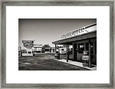 Laloma Motel Framed Print
