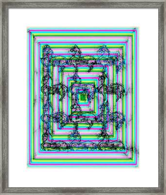 Lamalike Framed Print by Tommytechno Sweden