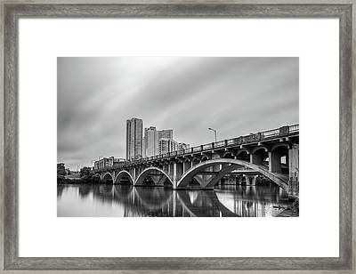 Lamar Bridge In Austin, Texas Framed Print
