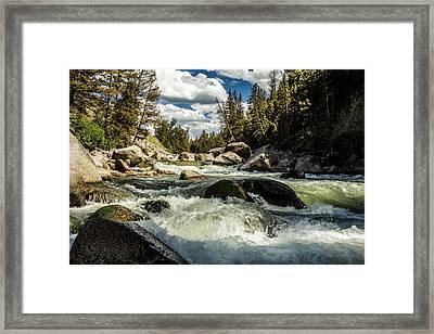 Lamar River Yellowstone Framed Print by TL  Mair