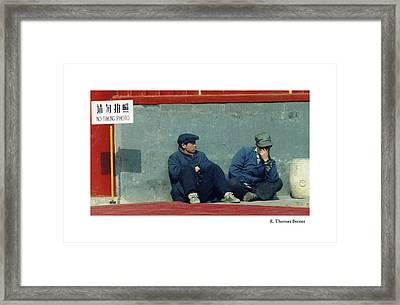 Lamasery Framed Print by R Thomas Berner