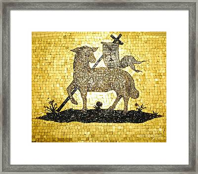 Lamb Of God Gold Framed Print by Jost Houk
