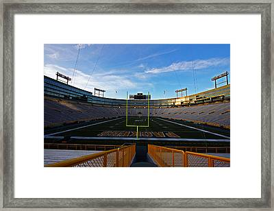 Lambeau Endzone Two Framed Print by Ty Helbach