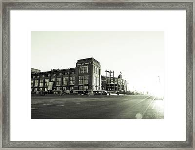Framed Print featuring the photograph Lambeau Field Minimalistic by Joel Witmeyer