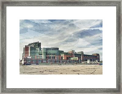 Framed Print featuring the photograph Lambeau Field Painterly Edition by Joel Witmeyer