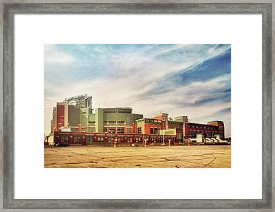 Framed Print featuring the photograph Lambeau Field Retro Feel by Joel Witmeyer