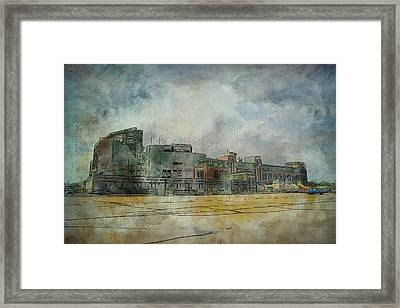 Framed Print featuring the photograph Lambeau Field Watercolor by Joel Witmeyer