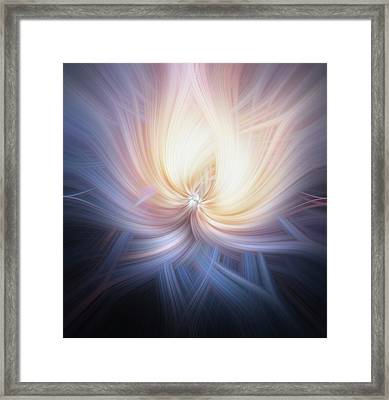 Lambent Flower. Mystery Of Colors Framed Print by Jenny Rainbow