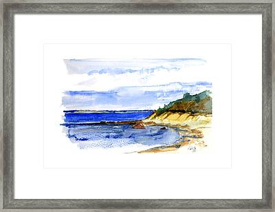 Lambert Cove Framed Print