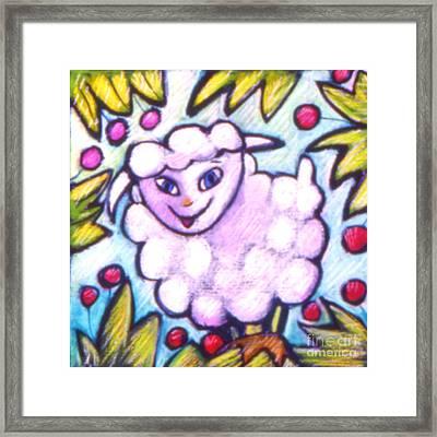 Lambie Framed Print by Angelina Marino