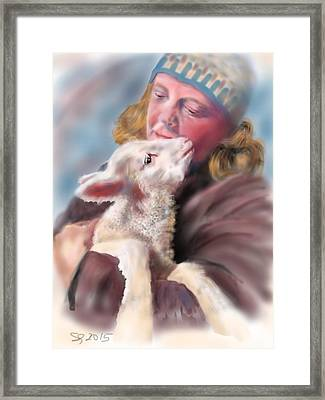 Lambie Love Framed Print