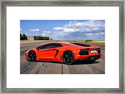 Lambo Runway Framed Print by Peter Chilelli