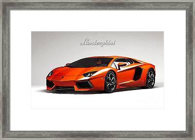 Lamborghini Aventador Framed Print by Mohamed Elkhamisy