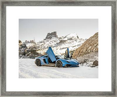 Lamborghini Aventador Sv Framed Print