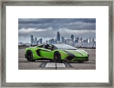 Framed Print featuring the photograph #lamborghini #aventadorsv #superveloce #roadster #print by ItzKirb Photography