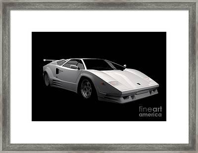 Lamborghini Countach 5000 Qv 25th Anniversary Framed Print