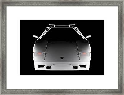 Lamborghini Countach 5000 Qv 25th Anniversary - Front View  Framed Print