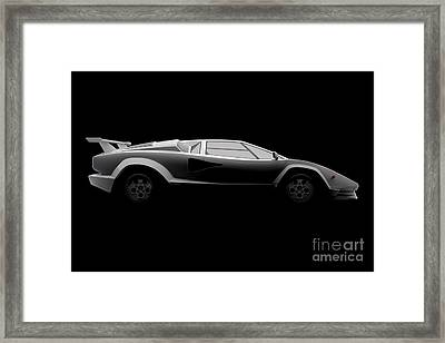Lamborghini Countach 5000 Qv 25th Anniversary - Side View Framed Print