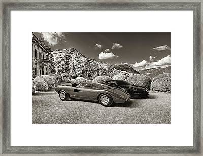 Lamborghini Countach Lp400 With Asterion Framed Print