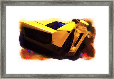 Lamborghini Front End Framed Print by Brian Reaves