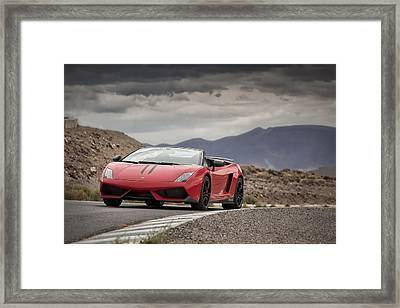 Lamborghini Gallardo Lp570-4 Spyder Performante Framed Print