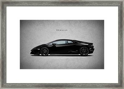 Lamborghini Huracan Black Framed Print by Mark Rogan