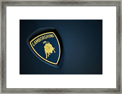 Framed Print featuring the photograph Lamborghini  by ItzKirb Photography
