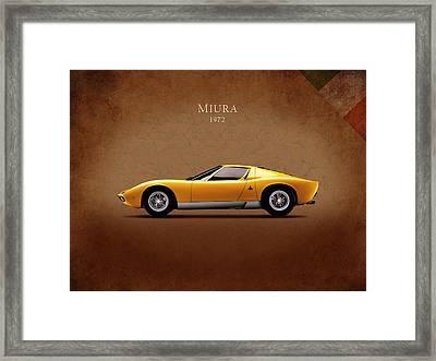 Lamborghini Miura Framed Print by Mark Rogan