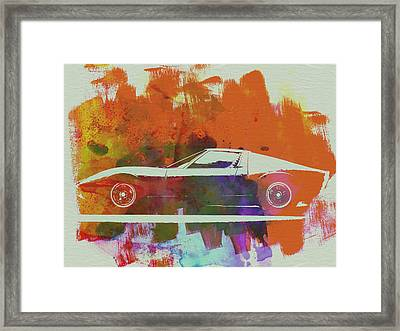 Lamborghini Miura Side 2 Framed Print by Naxart Studio