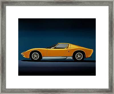 Lamborghini Miura 1966 Painting Framed Print by Paul Meijering