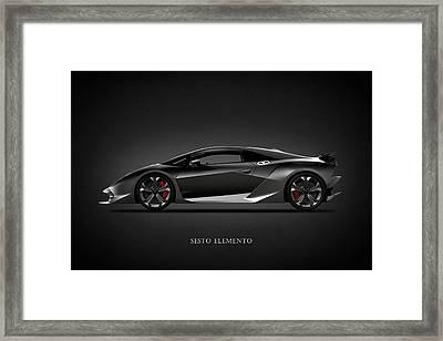 Lamborghini Sesto Elemento Framed Print