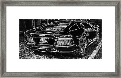 Lamborghini Test Drive Framed Print by Don Columbus
