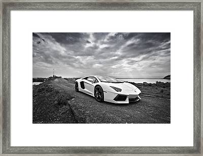 Framed Print featuring the photograph Lamborgini Aventador by ItzKirb Photography