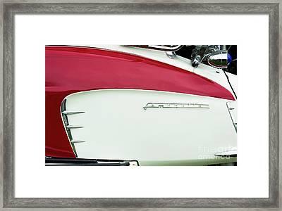 Lambretta Red Framed Print