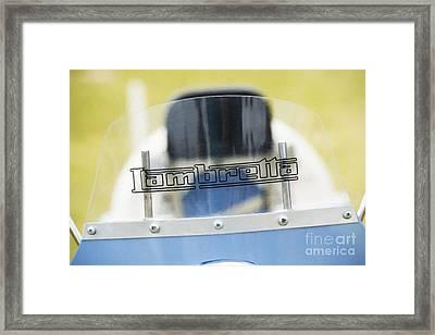 Lambretta Scooter Detail Framed Print
