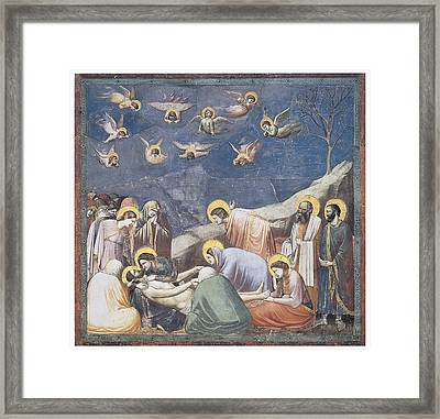 Lamentation Framed Print by Giotto Di Bondone