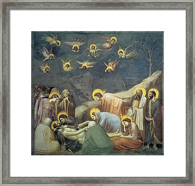 Lamentation Of Christ Framed Print by Giotto