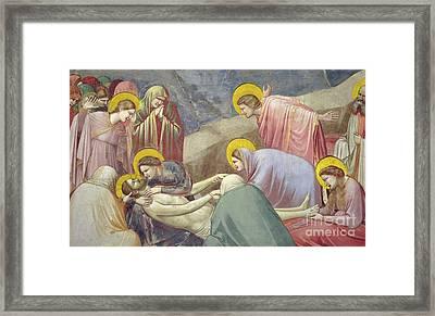 Lamentation Over The Dead Christ Framed Print by Giotto di Bondone