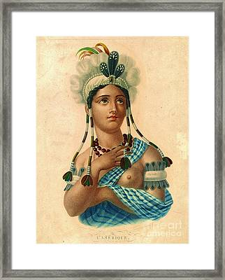L'amerique 1820 Framed Print