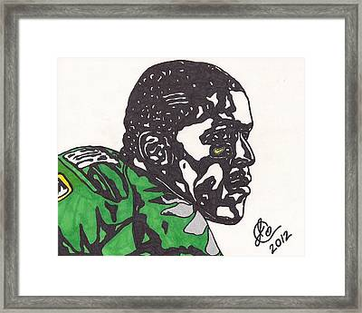 Framed Print featuring the drawing Lamicheal James 2 by Jeremiah Colley
