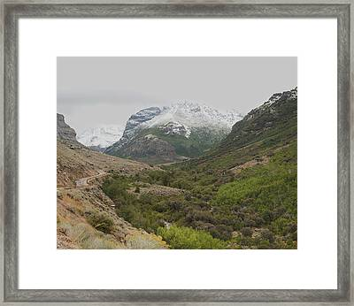 Framed Print featuring the photograph Lamoille Canyon by Daniel Hebard