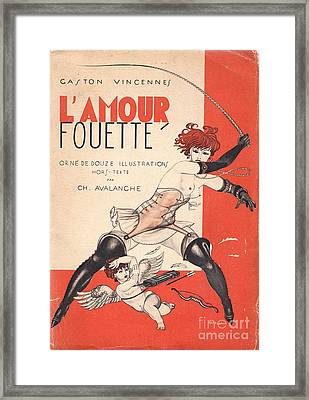 L'amour Fouette Framed Print by Mario Laboccetta