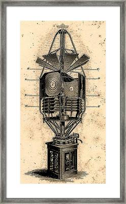 Lamp Contraption Framed Print
