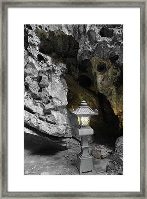 Lamp In Marble Mountain Framed Print