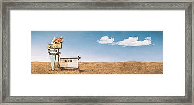 Lamp-lite Motel Framed Print
