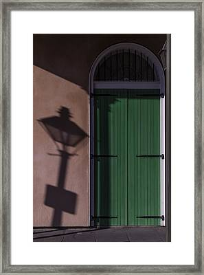 Lamp Shadow Framed Print by Garry Gay