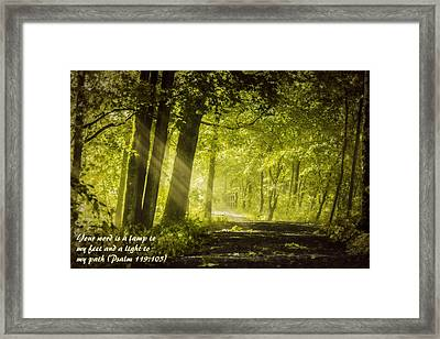 Lamp To My Feet Framed Print