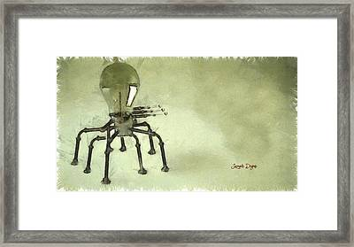 Lampbot - Da Framed Print by Leonardo Digenio
