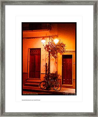 Lampione And Biciclette Framed Print