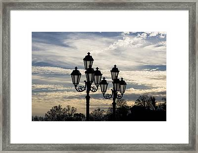 Lampposts Framed Print